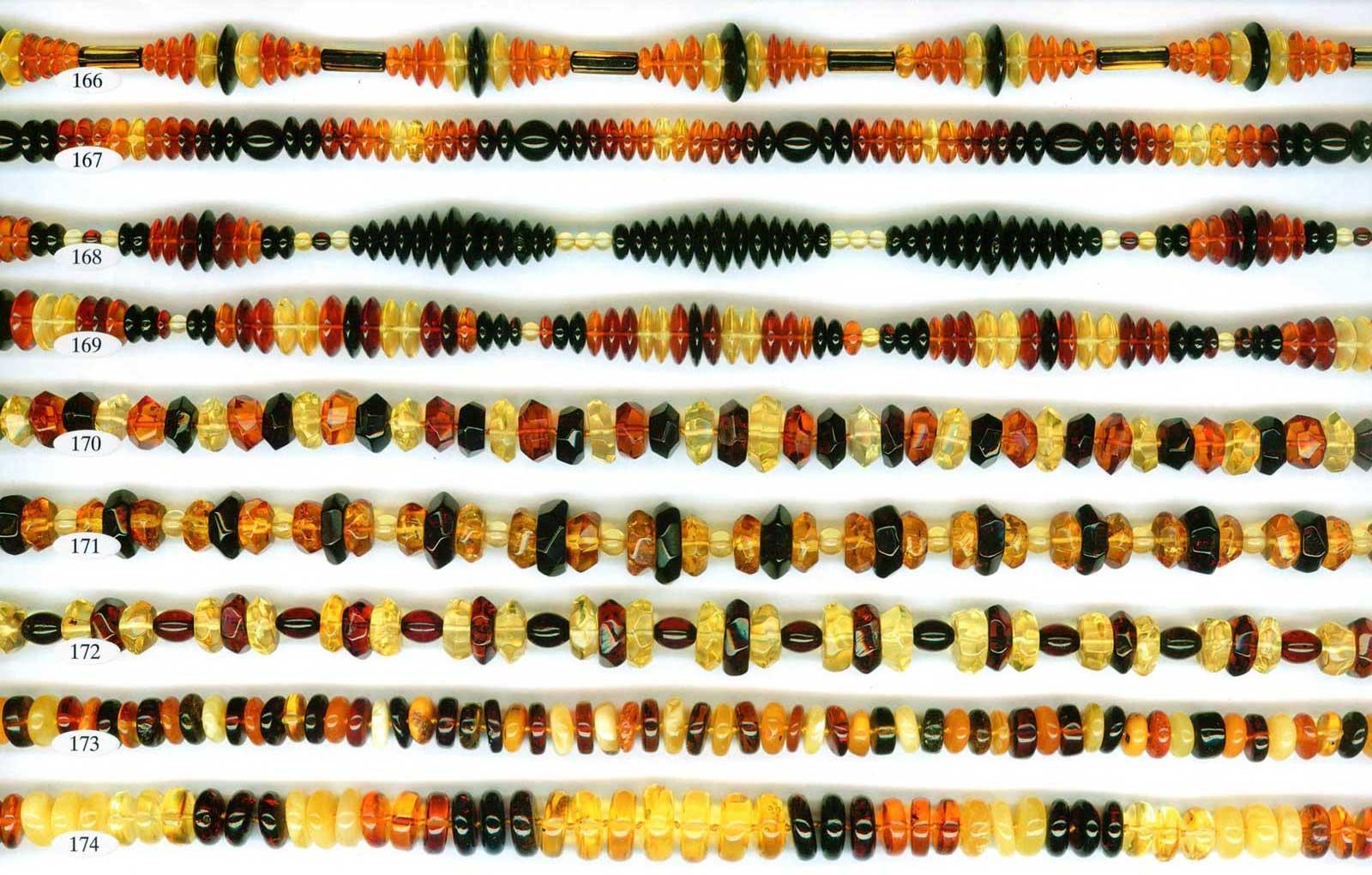 165-174 gintariniai karoliai