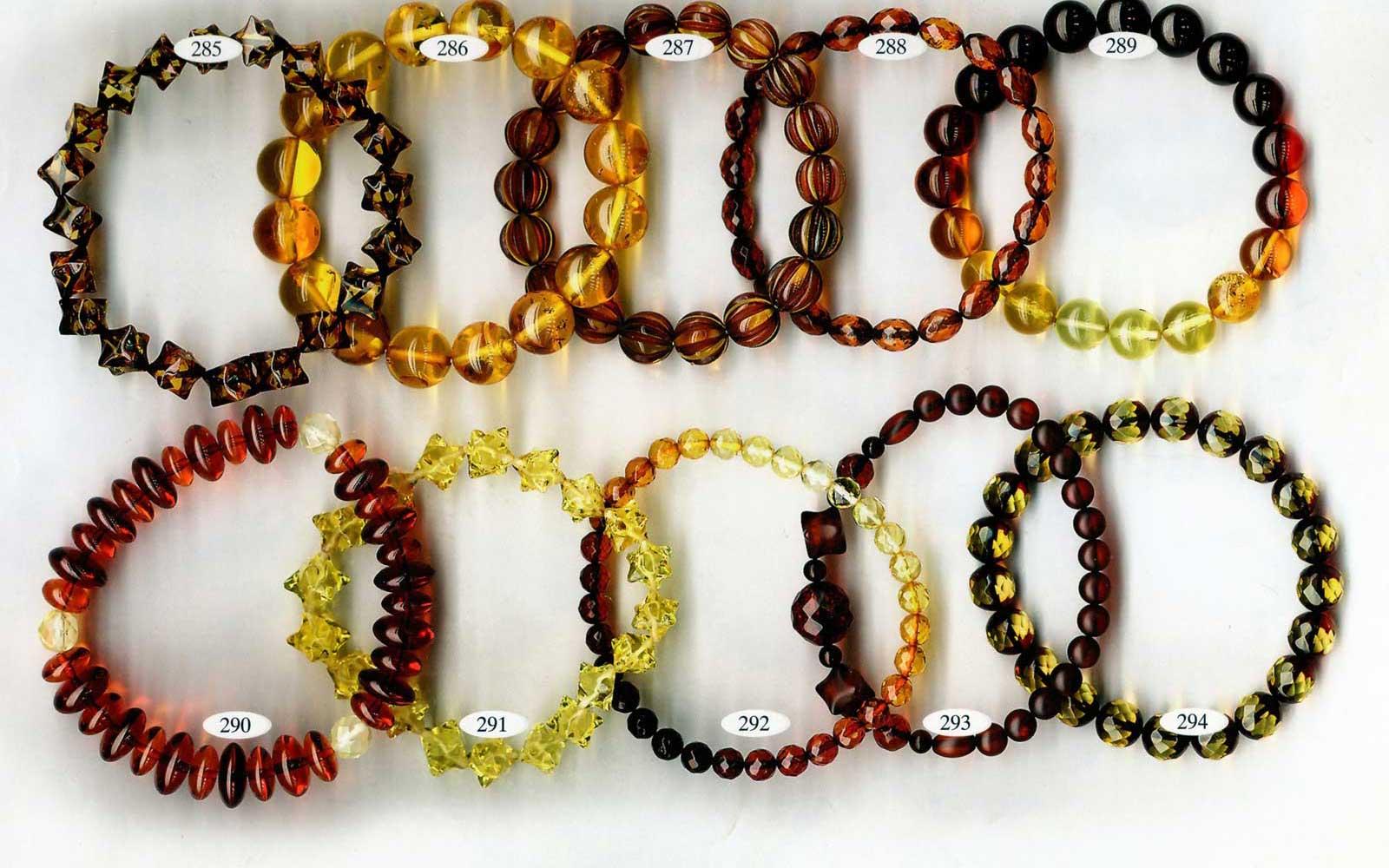 круглые браслеты из янтаря оптом