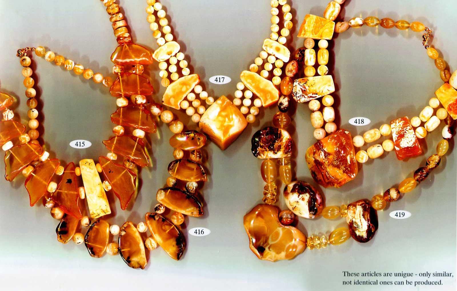 изделия из необработаного янтаря
