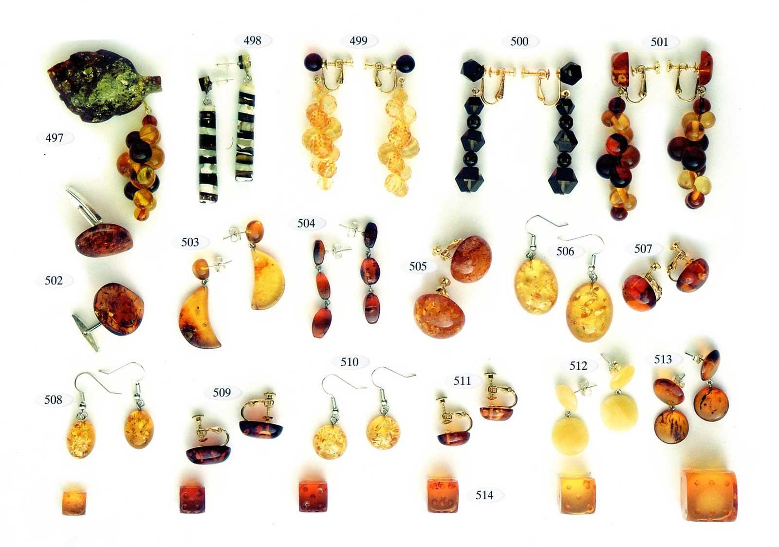 серьги из янтаря