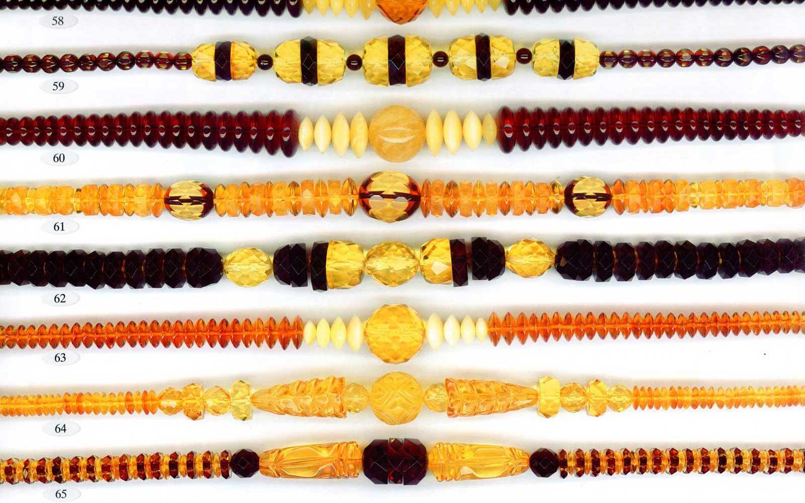 58-65 gintariniai karoliai