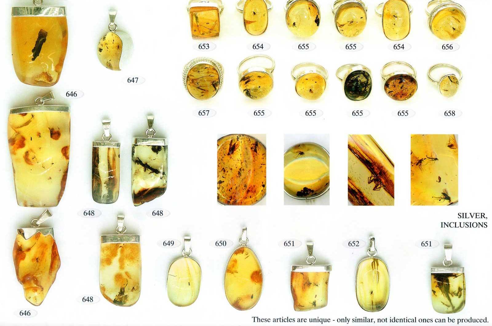 646-651 auksas ir sidabras su gintaru
