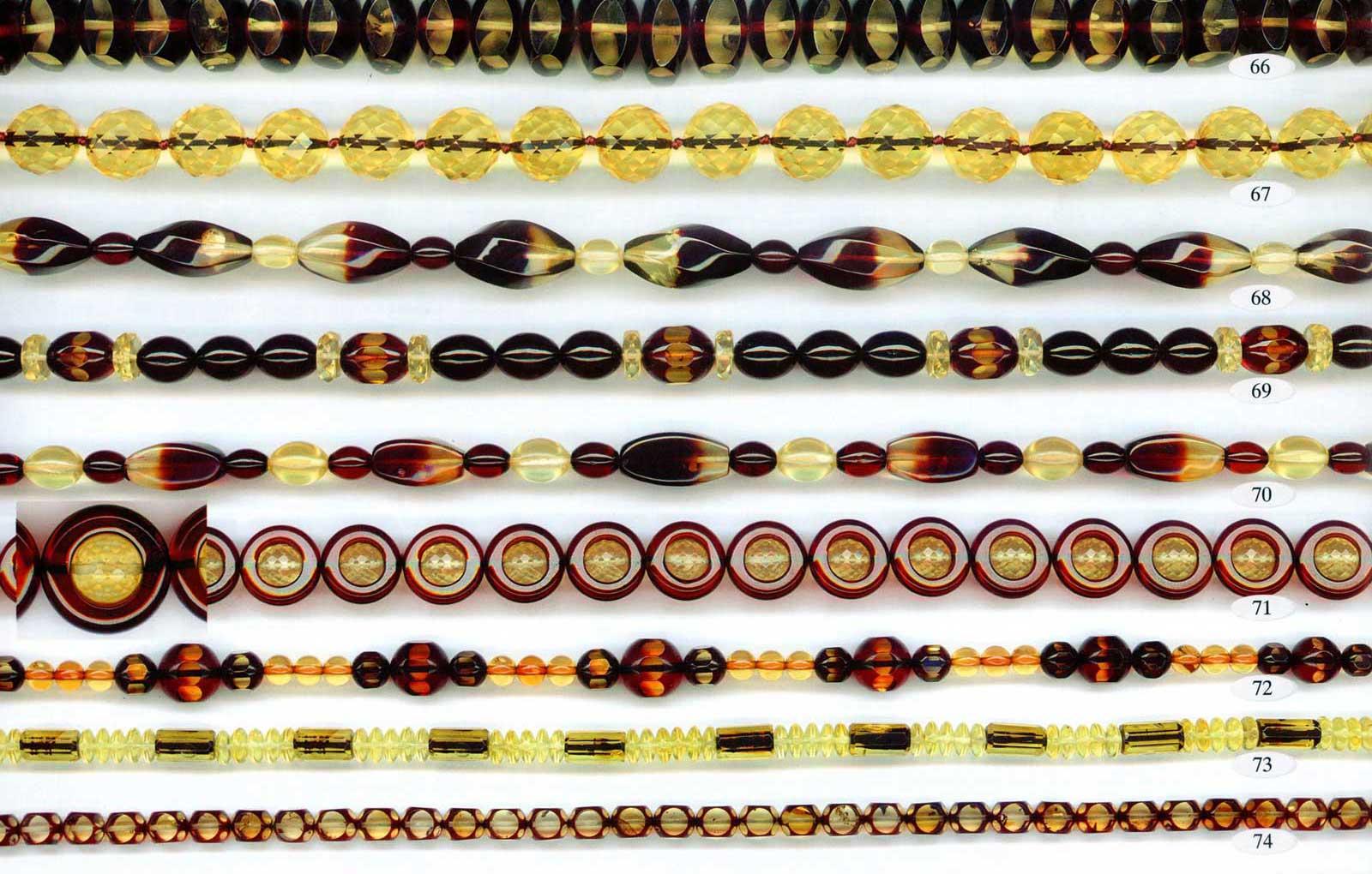 66-74 gintariniai karoliai