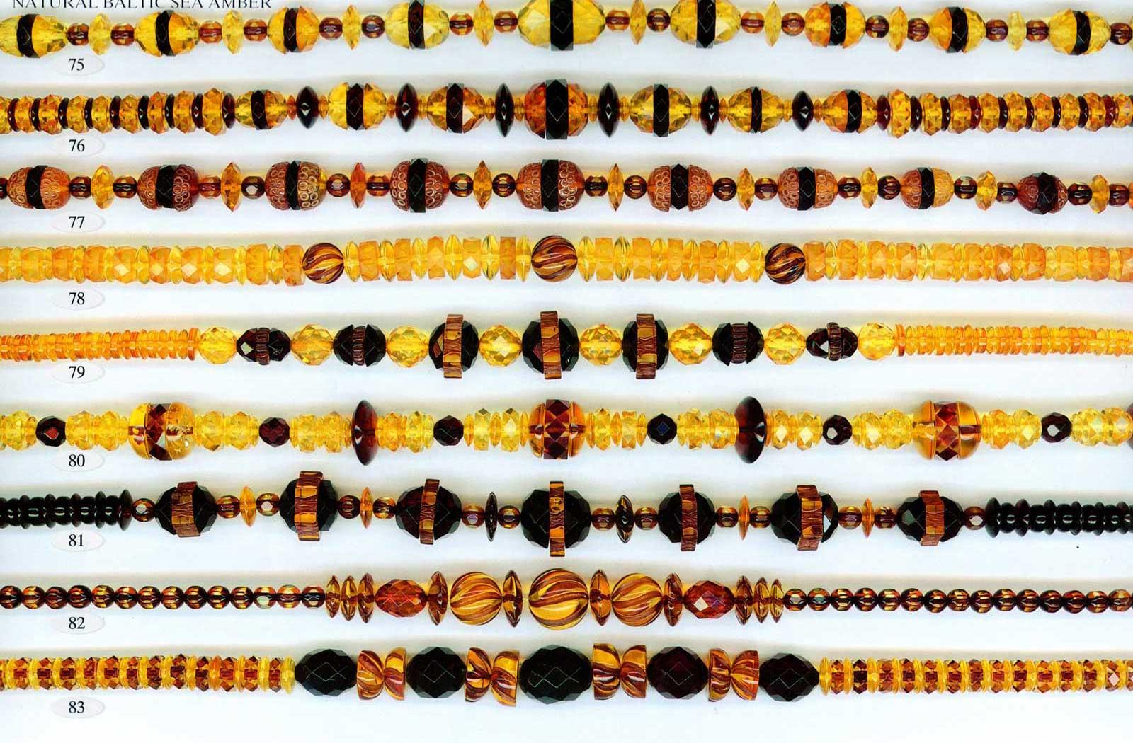 75-83 gintariniai karoliai