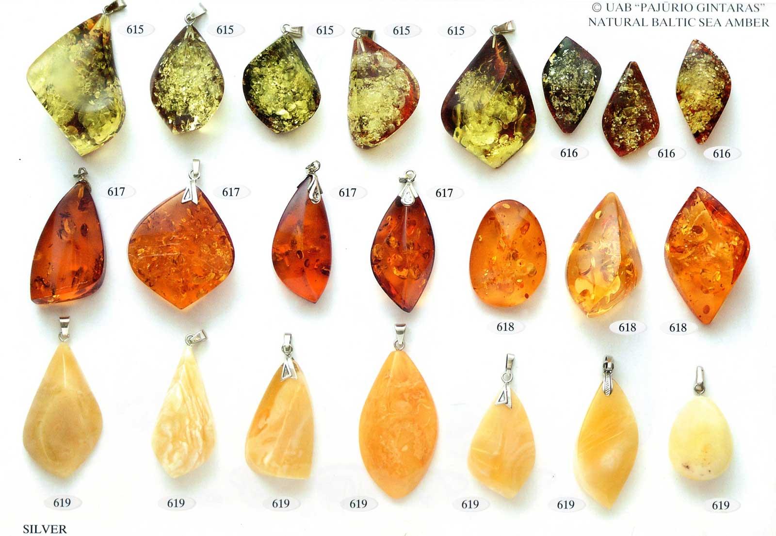 615-619 gold und silber mit bernstein