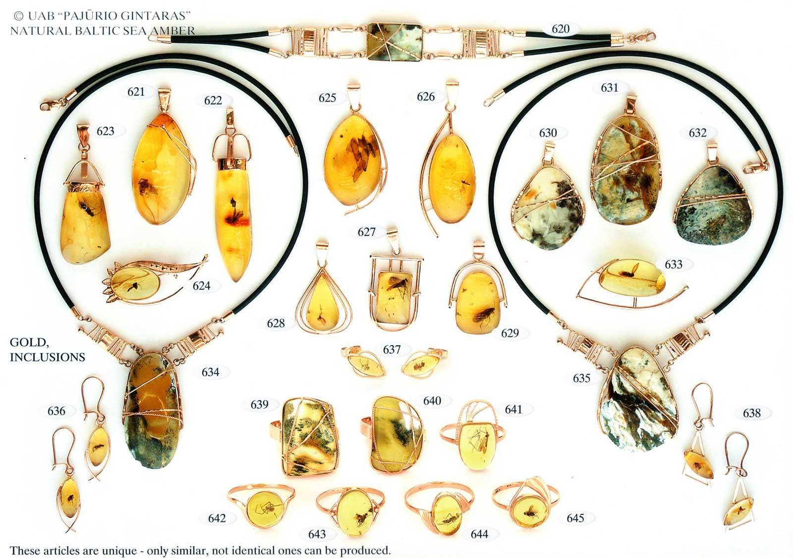 620-645 gold und silber mit bernstein