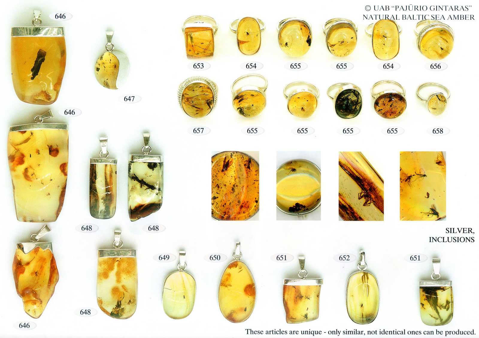 646-651 gold und silber mit bernstein